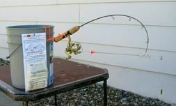 Ice fishing pole automatic hook setters. Fishing tackle for