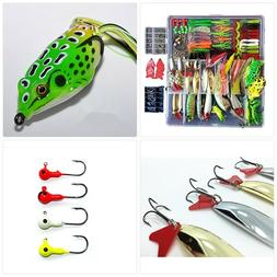 Smartonly 275pcs Fishing Lure Set Including Frog Lures Soft