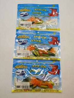 """Big Bite Baits 3"""" Curly Tail Fat Grubs Fire Tiger Lure Fishi"""